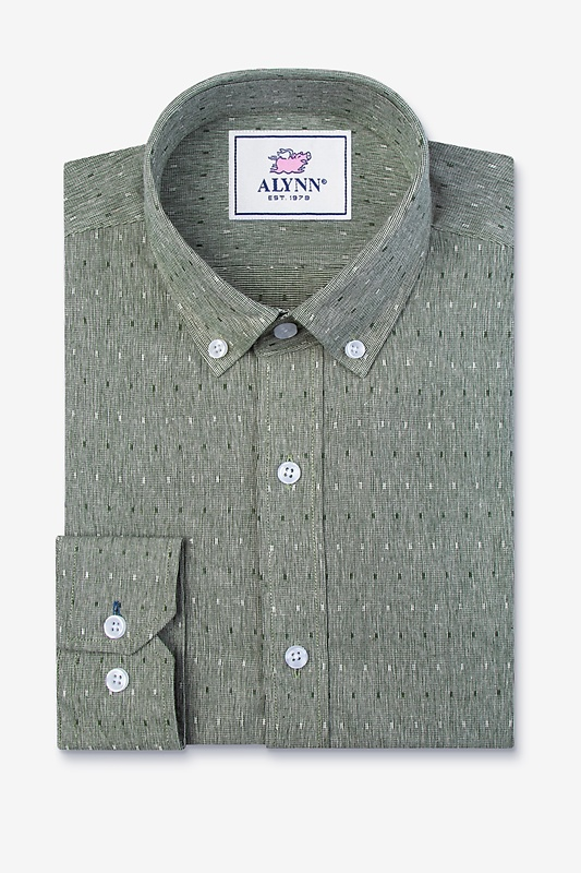 Mason Green Slim Fit Casual Shirt