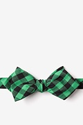 Pasco Green Diamond Tip Bow Tie Photo (0)