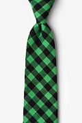 Green Cotton Pasco Extra Long Tie