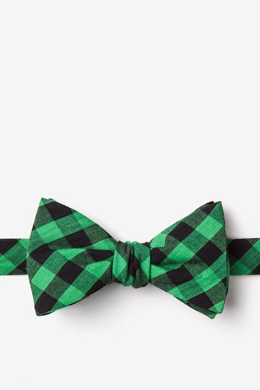 Pasco Green Self-Tie Bow Tie Photo (0)