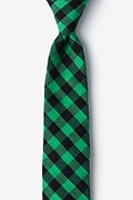 Green Cotton Pasco Skinny Tie