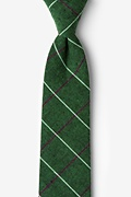 Green Cotton Phoenix Extra Long Tie