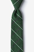 Green Cotton Phoenix Skinny Tie
