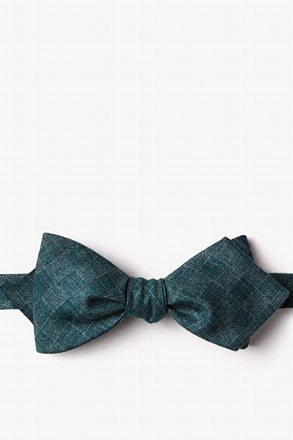 _Prescott Green Diamond Tip Bow Tie_