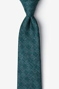 Green Cotton Prescott Extra Long Tie