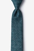 Green Cotton Prescott Skinny Tie