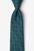Green Cotton Prescott Tie
