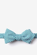 Green Cotton Sadler Diamond Tip Bow Tie