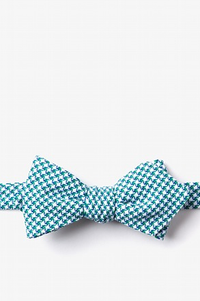 Sadler Green Diamond Tip Bow Tie