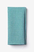 Green Cotton Sadler Pocket Square