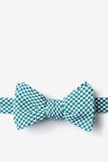 Green Cotton Sadler Self-Tie Bow Tie