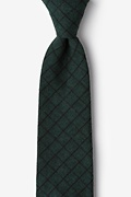 Green Cotton San Luis Extra Long Tie
