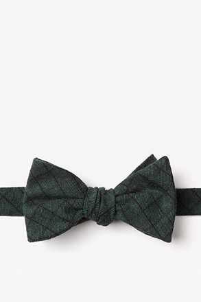 San Luis Green Self-Tie Bow Tie
