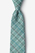 Green Cotton Seattle Extra Long Tie