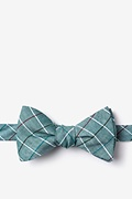 Green Cotton Seattle Self-Tie Bow Tie