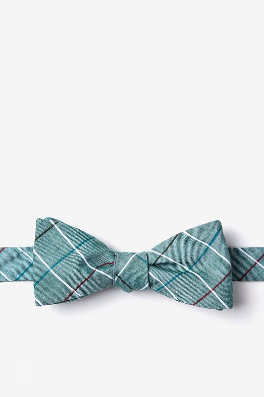 Seattle Green Skinny Bow Tie Photo (0)