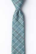Green Cotton Seattle Skinny Tie