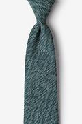 Green Cotton Springfield Extra Long Tie