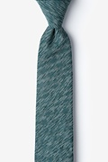 Green Cotton Springfield Skinny Tie