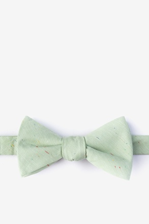 Teague Green Self-Tie Bow Tie