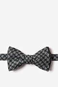 Green Cotton Tempe Self-Tie Bow Tie