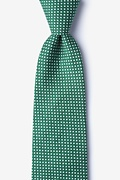 Green Cotton Wesley Extra Long Tie