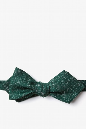 Wilsonville Green Diamond Tip Bow Tie