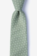 Green Cotton Zane Extra Long Tie