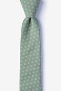Green Cotton Zane Skinny Tie