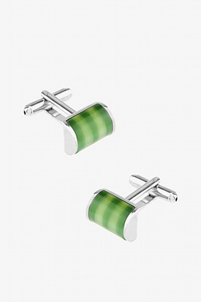 Striped Cat Eye Arch Cufflinks