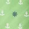 Green Microfiber Anchors & Ships Wheels Bow Tie