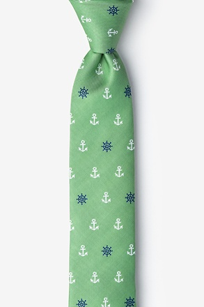 _Anchors & Ships Wheels Skinny Tie_