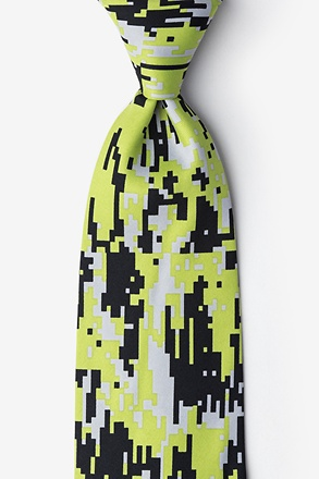 _Camouflage Digital Green Extra Long Tie_