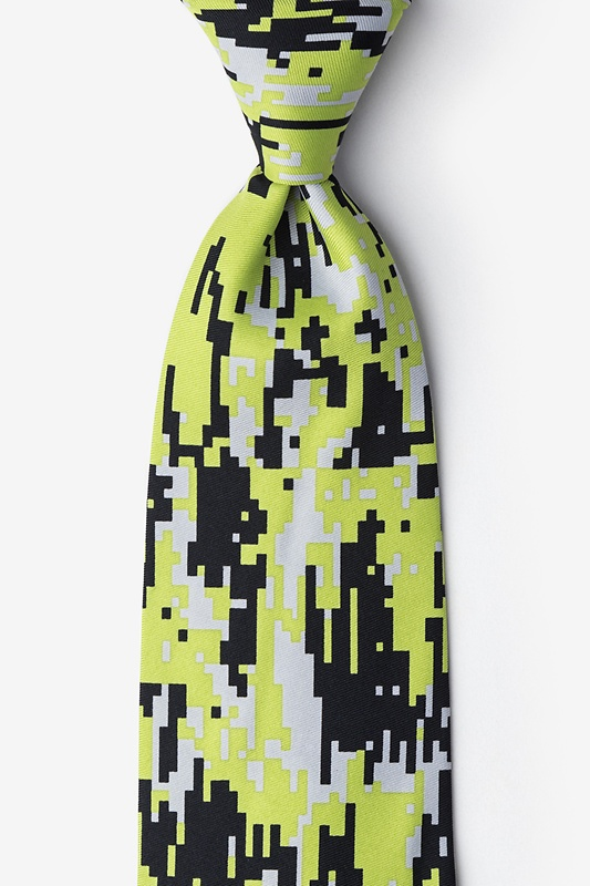 Camouflage Digital Green Extra Long Tie Photo (0)