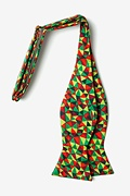 Christmas Kaleidoscope Triangles Self-Tie Bow Tie