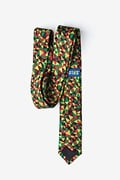 Christmas Kaleidoscope Triangles Green Skinny Tie Photo (2)