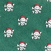 Green Microfiber Christmas Skulls Self-Tie Bow Tie