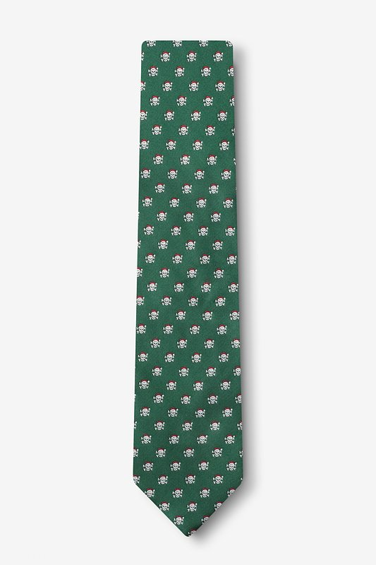 Christmas Skulls Skinny Tie Photo (1)
