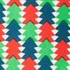 Green Microfiber Christmas Tree Abstract Extra Long Tie