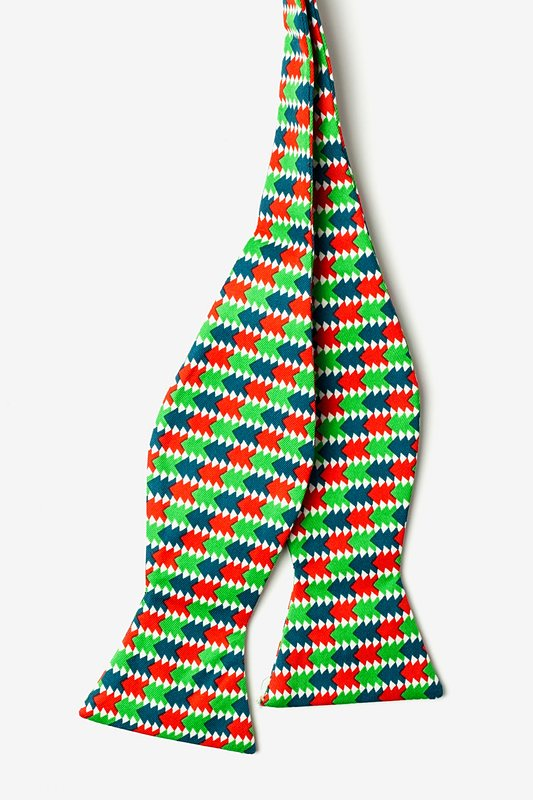 Christmas Tree Abstract Self-Tie Bow Tie Photo (1)