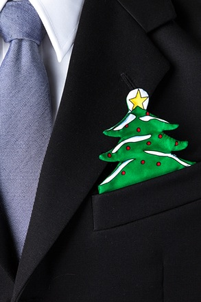 Christmas Tree Pocket Pal Pocket Square Card