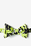 Green Microfiber Digital Camo Bow Tie
