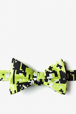 _Digital Camo Green Self-Tie Bow Tie_