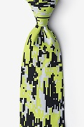 Green Microfiber Digital Camo Tie