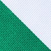 Green Microfiber Green & White Stripe