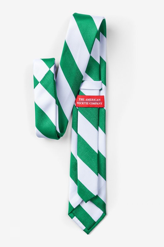 Green & White Stripe Tie For Boys Photo (1)