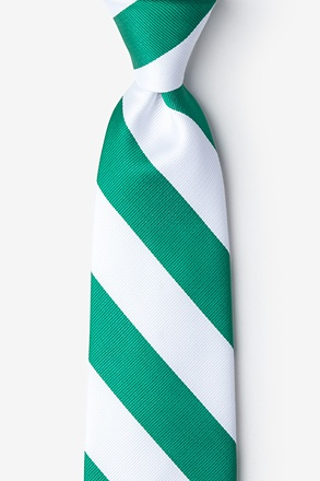 Green And White Stripe Tie