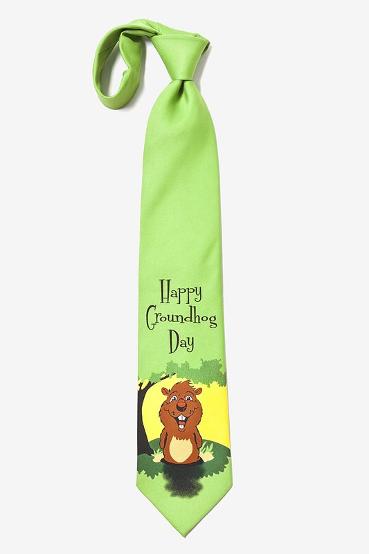 Happy Groundhog Day Tie