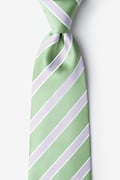 Green Microfiber Jefferson Stripe Extra Long Tie