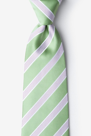_Jefferson Stripe Green Extra Long Tie_